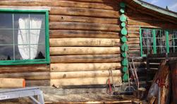 One of our log homes in Edmonton
