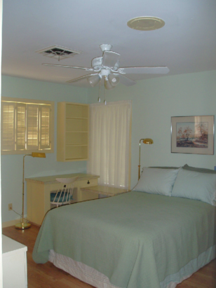 The master bedroom at Blan's House, a furnished, short-term, 3-bedroom corporate-rental house in Victoria TX