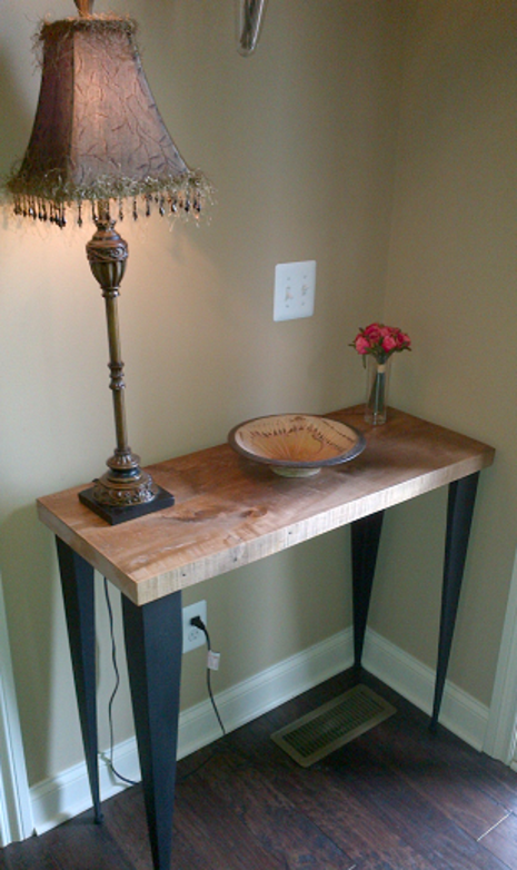 deep console table wood furniture vintagewoodworkz