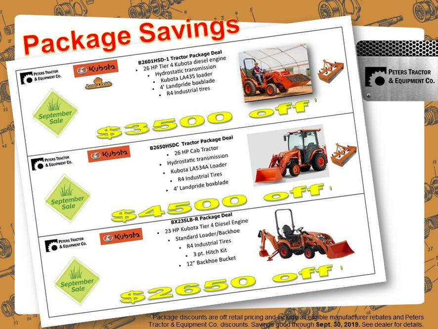 Peters Tractor & Equipment Co  - Tractor Packages