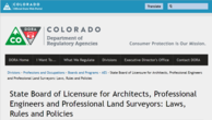 Colorado Professional Land Surveyors Laws Rules and Policies