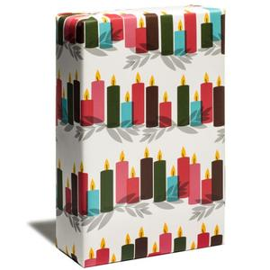 gift wrapping paper for candle