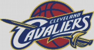 Cleveland Cavaliers Cross Stitch Chart Pattern
