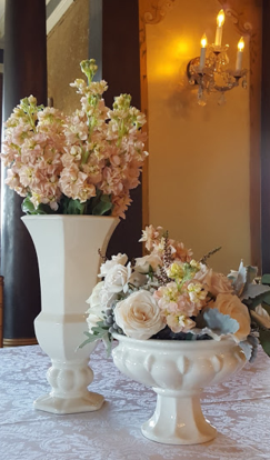 Ivory Vases for Event Decor