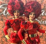 Human Flowers Roses ladies girls greeters