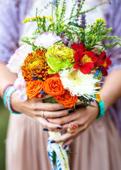 Mixed Flower Autumn Wedding Posy