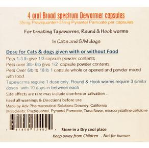 Broad Spectrum Dewormer for cats and small dogs