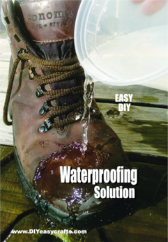 Easy DIY Waterproofing Solution. Inexpensive and easy to mix. www.DIYeasycrafts.com
