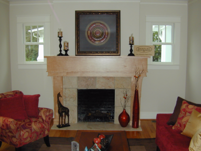 Fireplace in historic home after remodel