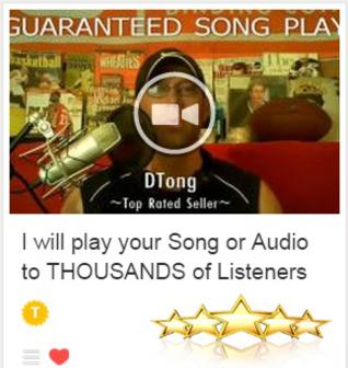 Guaranteed Song Play & Promotion