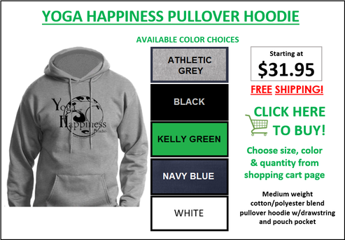 Yoga Happiness Pullover Hoodie