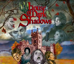 HOUSE OF DARK SHADOWS Illustration by Cliff Carson