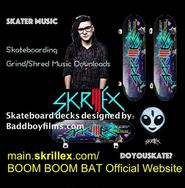 Skrillex.com: SONNY — BOOM BOOM BAT Official Website...BOOM BOOM BAT Official Website: Skrillex.com....Description: SONNY — BOOM BOOM BAT Official Website: Skrillex.com Official Facebook: Skrillex Facebook Official Twitter: Skrillex Twitter Official Web Store: ...