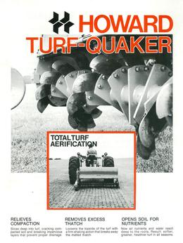 Howard Rotavator Model HR20 Turf-Quaker Brochure