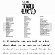 We The Tender Hearted - Published Full-Length Interview Music Video, 4 Poems and Photo-Shoot