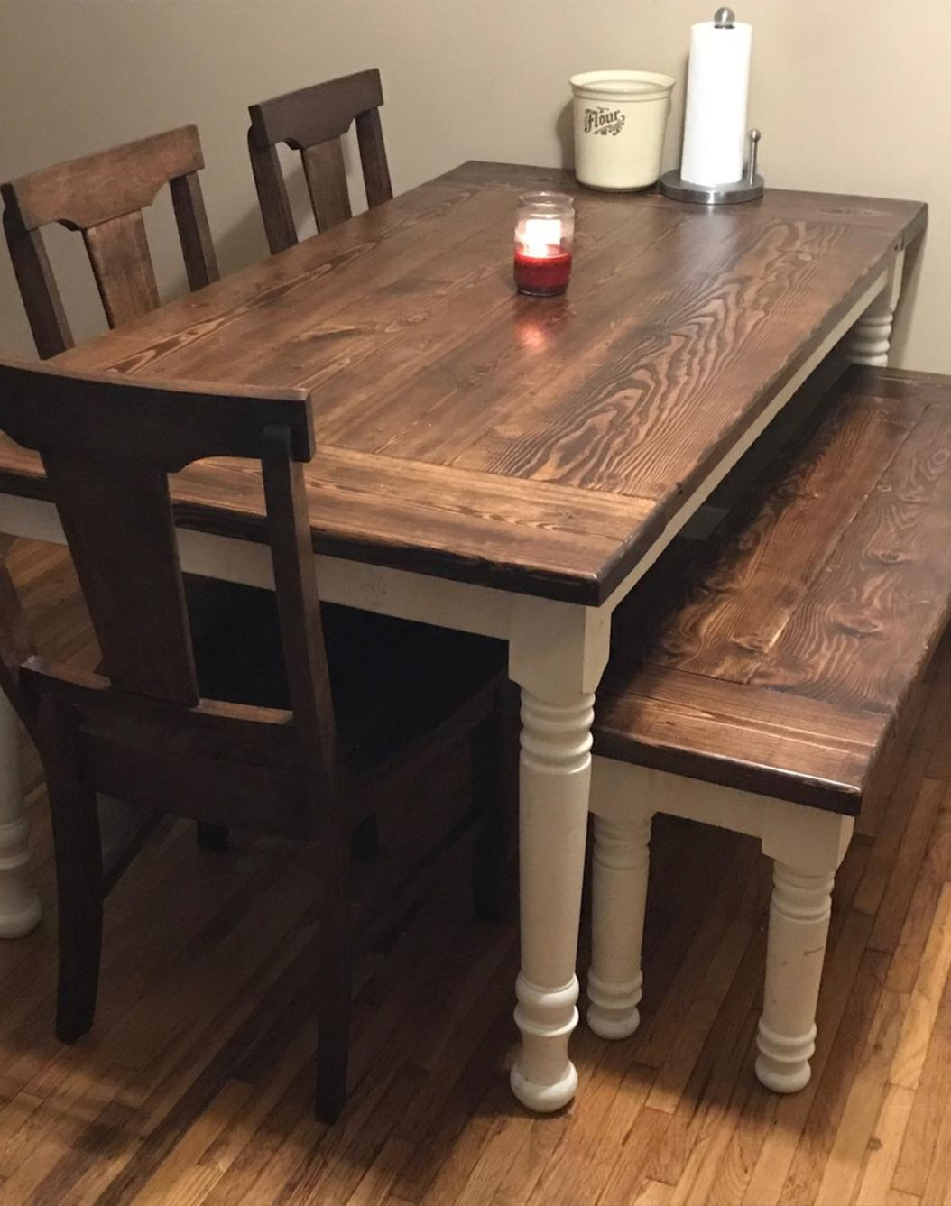 Green country dining table - About Us