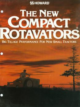 Howard New Compact Rotavators Brochure