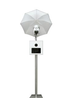 A photo stand rental available from Swift Photobooth.