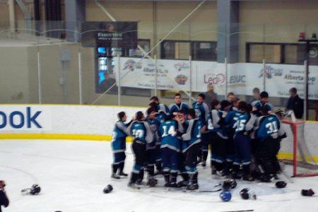 North West Sharks winning the 2010 Alberta Cup