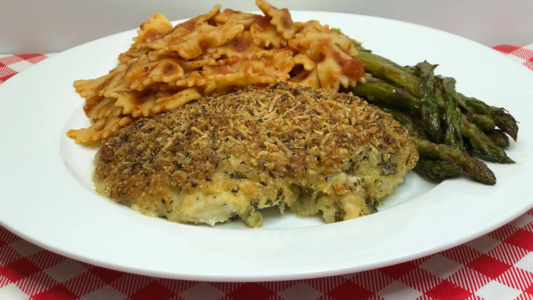 Parmesan Pesto crusted chicken Chicken recipe, Noreen's Kitchen