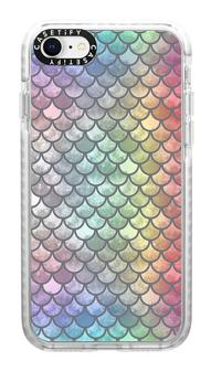 rainbow mermaid scales phone case