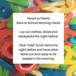 Back to School Morning Hacks