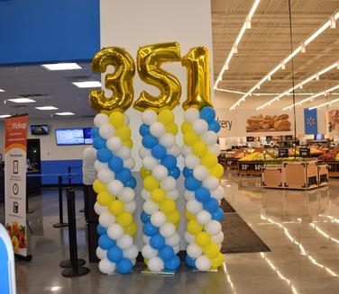 Balloon column Walmart