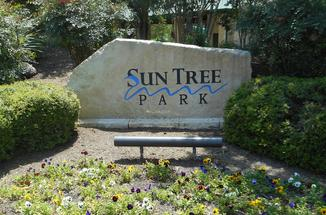 Photograph of Sun Tree Park sign