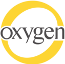 yellow and gray Oygen logo