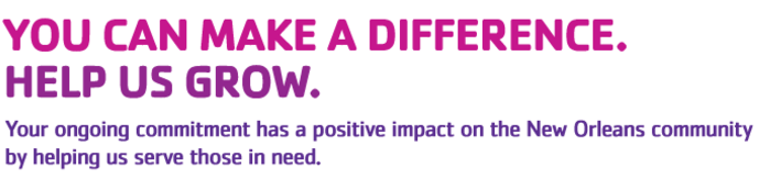 "YMCA slogan ""You can make a difference. Help us grow."""
