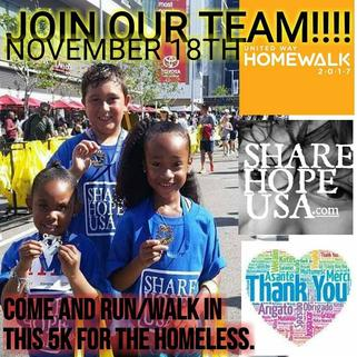 Join our team as we run/walk for the Homeless