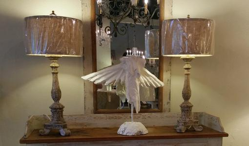 Plaster Angel classical style in plaster of Paris by Jamey Alexander artist