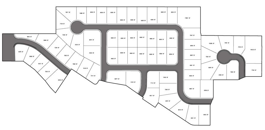 Oquirrh Meadows Phase 4 Lot Sizes