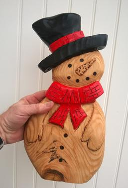 How to make a wood Snowman with power tools. This is an easy DIY project. FREE step by step instructions. www.DIYeasycrafts.com