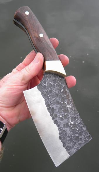 DIY Cleaver with hammer peened blade. FREE step by step instructions. www.DIYeasycrafts.com