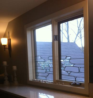 custom art glass, window covering, calgary ab, overlay glass