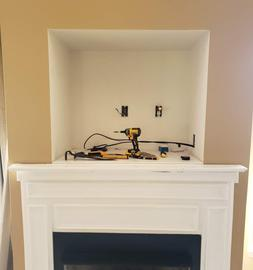 Custom Tv Mounting Brick Tv Mount Stone Fireplace