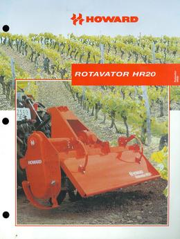 Howard Rotavator Model HR20 Brochure