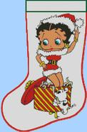 Betty Boop Christmas Socking Chart Pattern