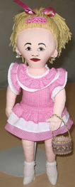 "Lucillin Princess raggedy doll ""all cloth doll"""