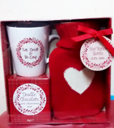 Hot water bottle, mug and chocolate gift set | Gifts | The Little Flower shop