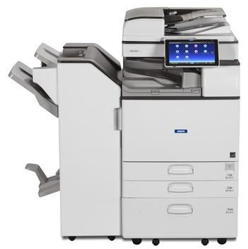 Cedar Rapids Photo Copy, Inc., CRPC, Savin MP 2555, Savin MP 3055, Savin MP 3555, Office Printing, Office MFP, Office Multifunction Printer, Copier, Printer, Copy, Scan, Fax, 30 pages per minute black and white, 4,700 page paper capacity, professional, maximizing productivity, finishing, stapling, hole punching, booklet folding, stapler, hole puncher, folder, print from mobile device