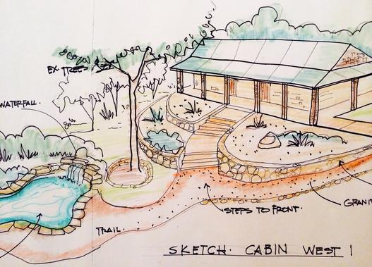 Professional Landscape Architectural services, Freehand plan