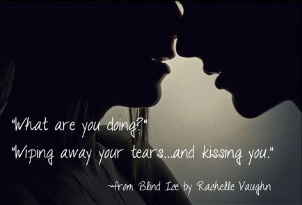Blind Ice by Rachelle Vaughn sexy hockey sports romance book quote