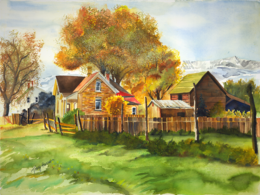 Idaho Farm House, Tracy Harris Watercolor Artist, Limited Edition Giclee Available
