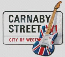 Cross Stitch Chart Pattern of Carnaby Street sign
