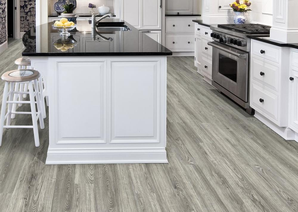 Cleaning laminate tile floor treatment