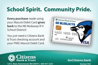 School spirit, community pride with citizens bank and trust