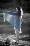 Blue Heron Shawl for Faerie Magazine Autumn 2015