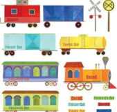 Wallies Train Ride Wall Decal Blue from Target - $20.39